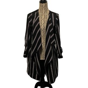 Monteau Longline Waterfall Blazer Black Large